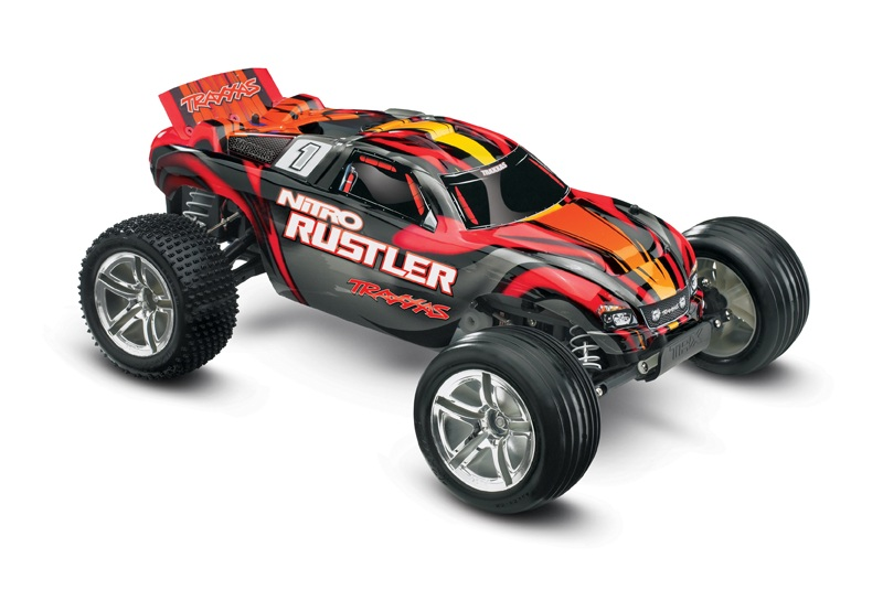 Радиоуправляемая машина Traxxas Nitro Rustler 2WD RTR 1:10