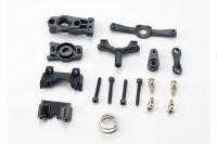 Steering arm (upper & lower)/ steering link/ servo horn/ servo saver/ servo saver spring/ servo