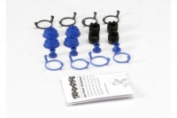 Pivot ball caps (4)/ dust boots, rubber (4)/ dust plugs, rubber (4)/ dust boot retainers, black (4),