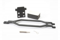 Hold down, battery/ hold down retainer/ battery post/ foam spacer/ angled body clip (allows for inst
