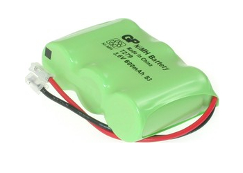 Аккумулятор NiMh 1/2AA 3.6V 600mAh GP T-279 Flatpack UNI Plug