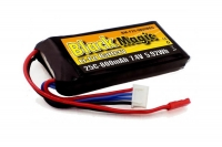 Аккумулятор Black Magic LiPo 7,4V 800mAh (2S) 25C Soft Case (JST-BEC plug)
