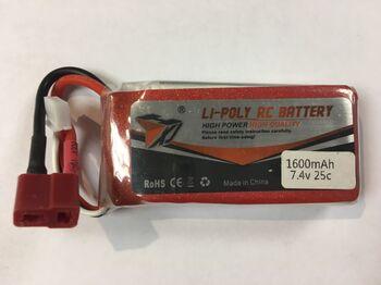 Аккумулятор Li-Po 7.4v 1600mah разъем Deans