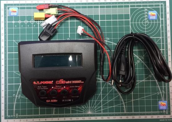 Универсальное зарядное устройство G.T.Power C6D 6A/60W Dual Power 12/220В