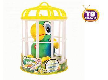 Club Petz Funny Попугай Benny интерактивный (зеленый) , повторяет слова, шевелит клювом, мягконабивной