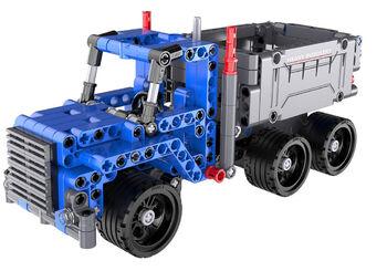 Конструктор Cada Technics грузовик c инерционным механизмом, 301 деталь - C52011W