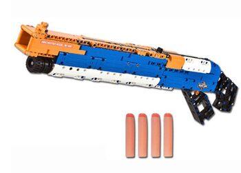 Конструктор Double E Cada Technics, дробовик M1887, 506 деталей, стреляет пульками - C81004W