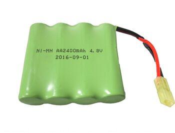 Аккумулятор Ni-Mh AA 4.8v 2400mah форма Flatpack разъем MINITAMIYA