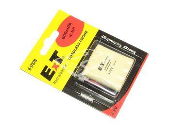 Аккумулятор NiMh AAA 4.8V 600 mAh ExT 1787U Flatpack UNI Plug