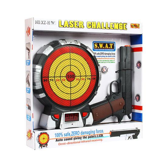 Игровой набор Лазерный пистолет и мишень с указанием баллов на батарейках - XZ-H9V