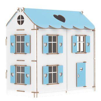 Конструктор Кукольный домик Playwood цветной (голубой)