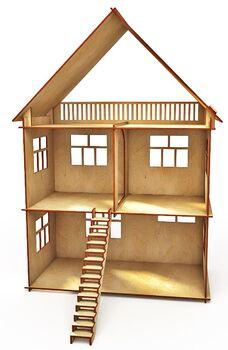 Конструктор-кукольный домик ХэппиДом Коттедж из дерева