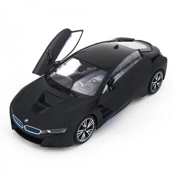 Радиоуправляемая машина Rastar 71010 BMW i8 Black 1:14 с открывающимися дверями - цвет черный