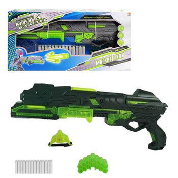 Мегабластер PT-00807-106504 в наборе с 14 мягкими снарядами и аксессуарами, на батарейках