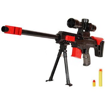 Винтовка Barret M89 механическая 2в1 резиновые и мягкие пули - ZYB-B2081