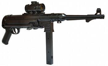 Автомат-пулемет Шмайсер с пружинным механизмом (48 см, пневматика) - M40G