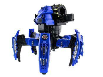 Радиоуправляемый робот-паук Keye Toys Space Warrior, лазер, ракеты, синий 2.4G