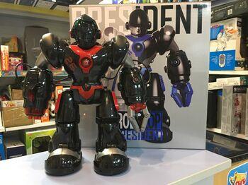 Радиоуправляемый робот RoboCop стреляет присосками - AW-7088