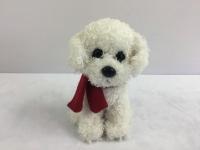 Мягкая игрушка Собака с шарфиком, 16см
