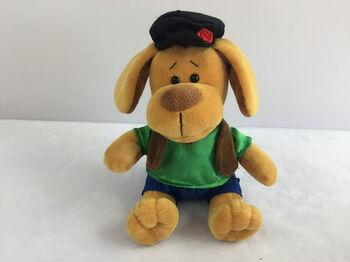 Мягкая игрушка Собака в кепке, 15см