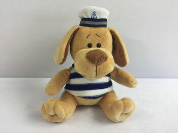 Мягкая игрушка Собака морячок, 15см