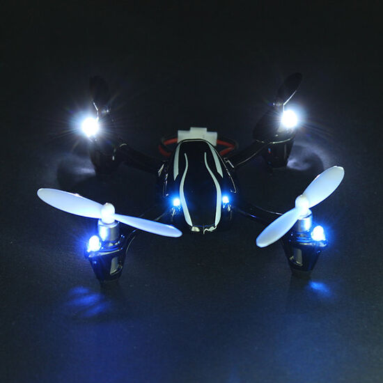 Радиоуправляемый квадрокоптер Hubsan X4 H107L-U c подсветкой и защитой 2.4G