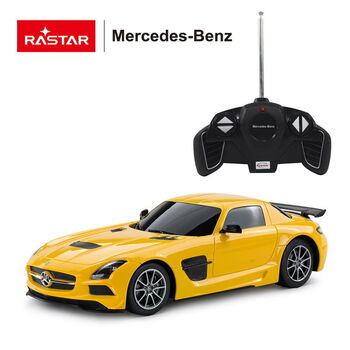 Машина Rastar 54100 Mercedes-Benz SLS AMG 1:18 Цвет Желтый