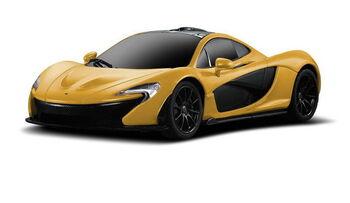 Радиоуправляемая машина Rastar 75200 McLaren P1 1:24, цвет жёлтый 27MHZ