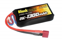 Аккумулятор Black Magic LiPo 11,1V 1300mAh (3S) 25C Soft Case (Deans plug)