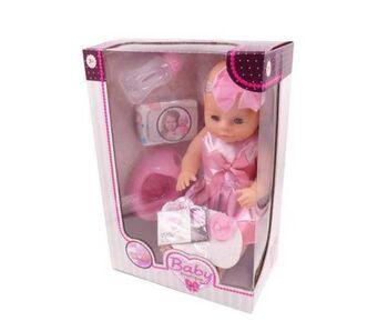 Кукла-пупс Baby boutique, 40см, пьет и писает,  2 вида, в наборе с аксессуарами