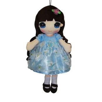 Кукла мягконабивная в голубом платье, 50 см