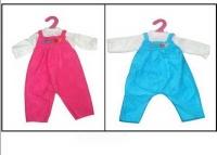 Одежда для кукол: комбинезон (красный/синий цвет), 25x1x38см