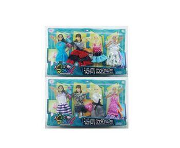 Одежда и аксессуары для куклы высотой 29 см 2 шт  (4 наряда, обувь, 2 сумочки)