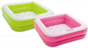 Бассейн надувной Play Box Pool, 85х85х23см, 2 цвета, от 1-3 лет