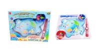 """Рыбалка """"Большой улов"""", 2 вида  (розовый, голубой), в наборе с удочкой, аквариумом и аксессуарами"""