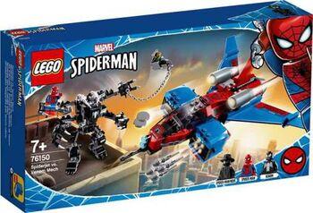 Конструктор LEGO SUPER HEROES Реактивный самолёт Человека-Паука против Робота Венома
