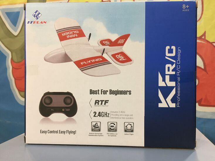 Компактный микросамолет на радиоуправлении KF606 2.4g 2CH RTF для дома и улицы