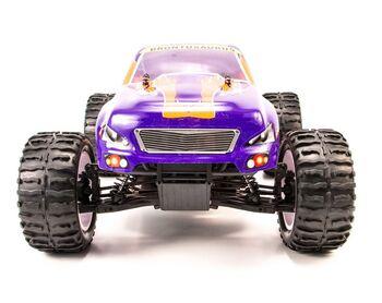 Радиоуправляемая машина HSP Brontosaurus EP 4WD 1:10 (фиолетовый с оранжевым)