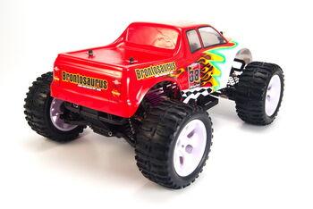Радиоуправляемая машина HSP Brontosaurus EP 4WD 1:10 (красный с белым)