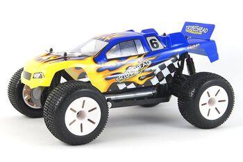 Радиоуправляемая машина HSP Tribeshead 94124N-12418 EP 4WD 1:10 (желтый с синим)
