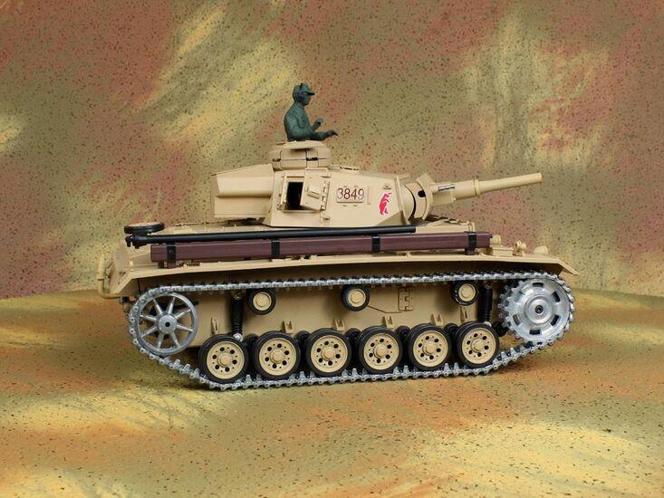 Радиоуправляемый танк Heng Long Tauch Panzer III Ausf.H Professional Version 1:16