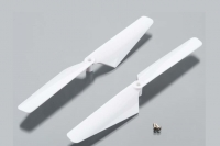 Rotor blade set, white (2)/ 1.6x5mm BCS (2)